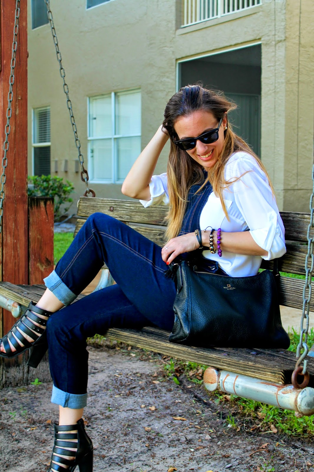 AGAPE Boutiq, Kate Spade, BCBGeneration, Ray-Ban, Steve Madden, Miami, fashion blog, street style, overalls, gladiator sandals, prep, classic, trends, look book