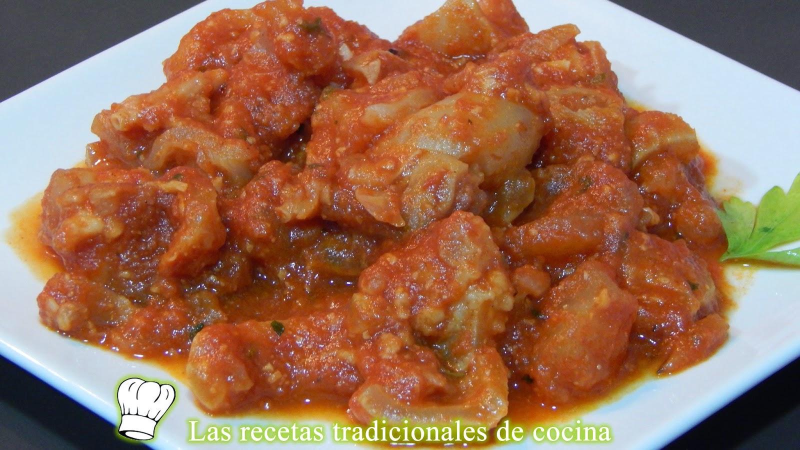 Patas de ternera en salsa