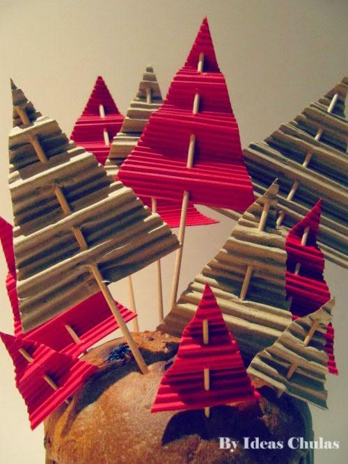 Presentación Panettone con toppers navideños