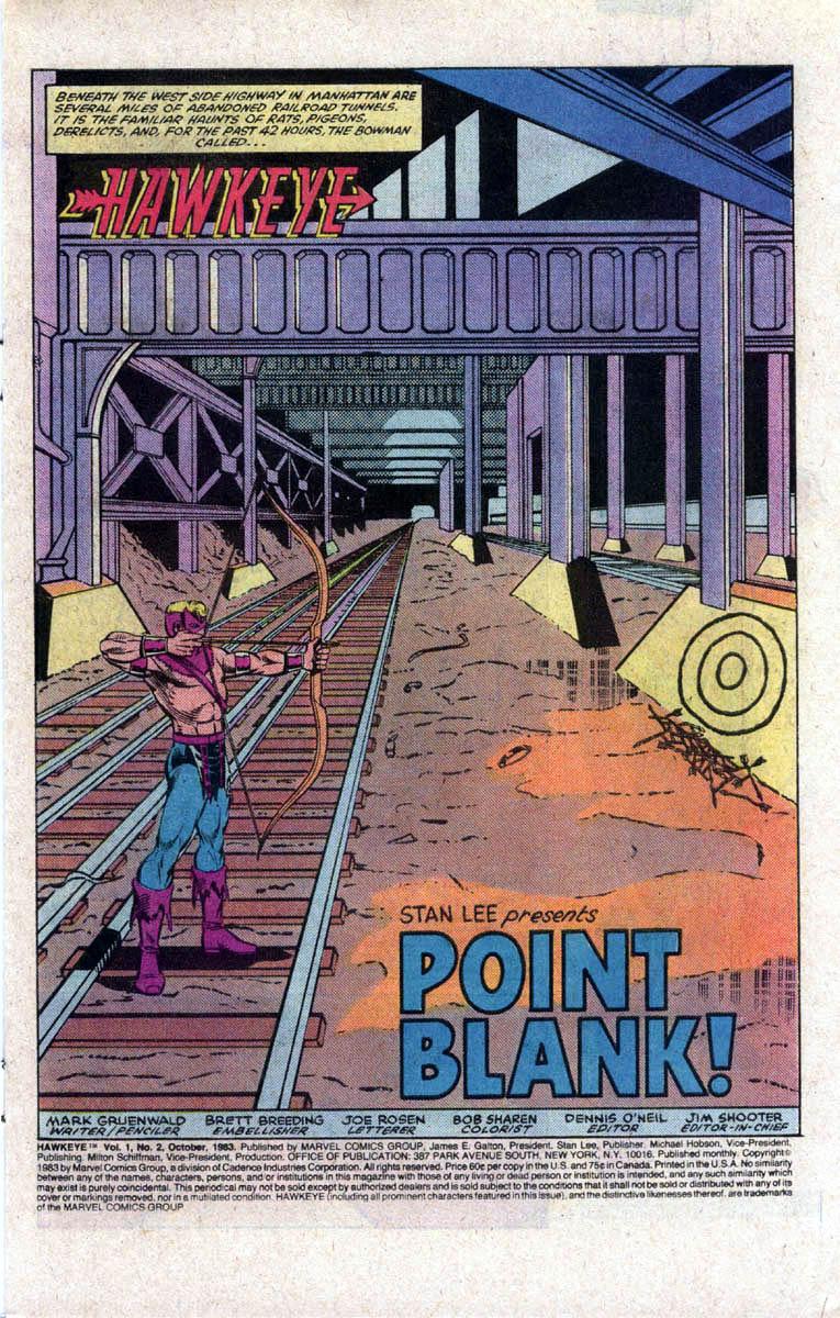 Hawkeye (1983) Issue #2 #2 - English 2