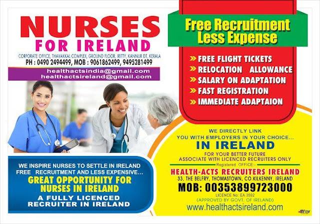 nurses job vacancy  nurses for ireland