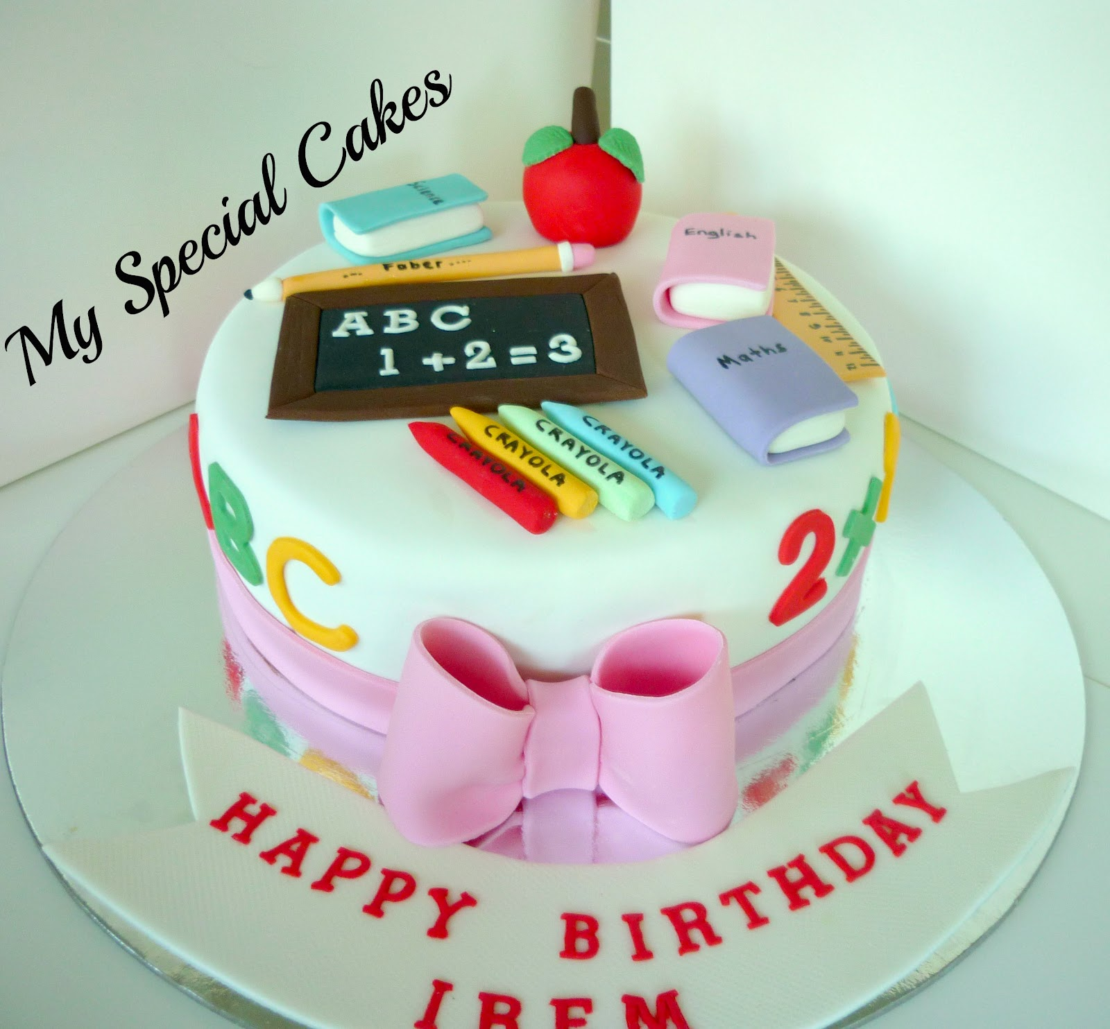 Best Cake Design Schools : My Special Cakes: Teacher Cake