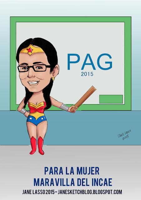 Caricatura para profesora