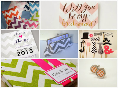 Chevron Wedding Inspiration Board, curated by Sugarplum Garters