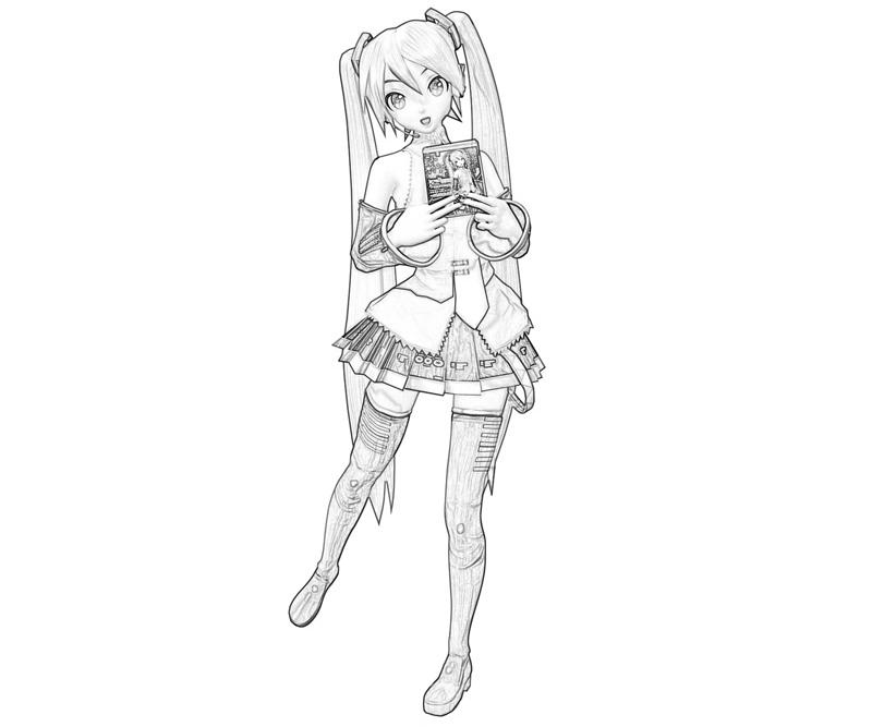 miku coloring pages Hatsune Miku Project Hatsune Miku Cover | How Coloring miku coloring pages