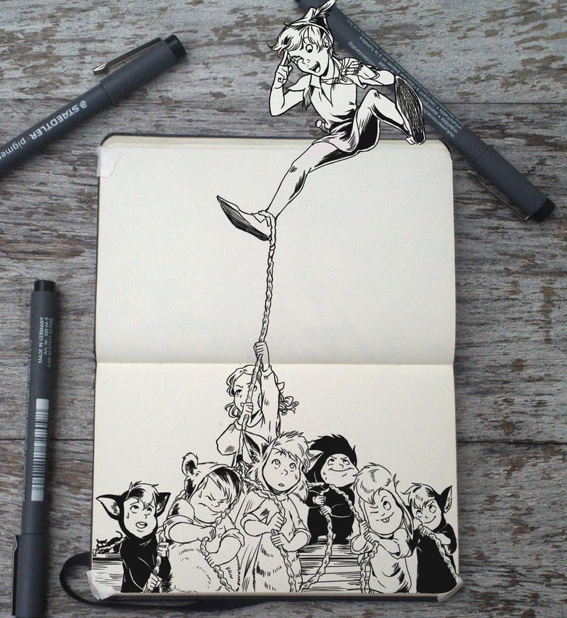 19-Tug-of-War-Gabriel-Picolo-365-Days-of-Doodles-www-designstack-co