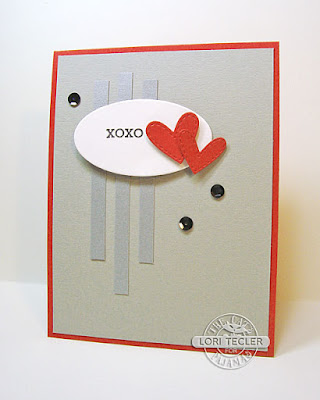 XOXO card-designed by Lori Tecler/Inking Aloud-stamps and dies from The Cat's Pajamas