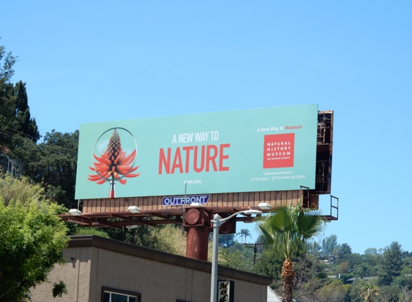 new way to nature Natural History Museum billboard