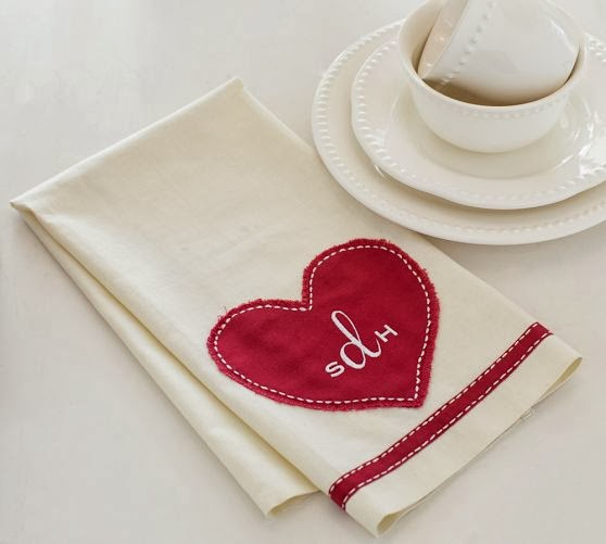 serendipity refined blog  pottery barn inspired valentine u0026 39 s day monogrammed towel