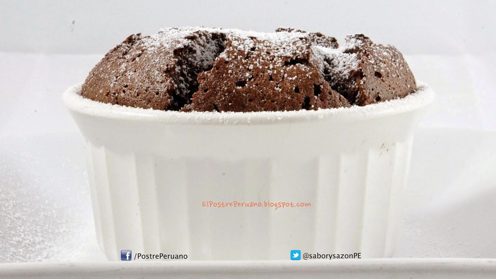 RECETA SENCILLA - SOUFFLE DE CHOCOLATE - Postres con #chocolate - REPOSTERIA POSTRES EXQUISITOS