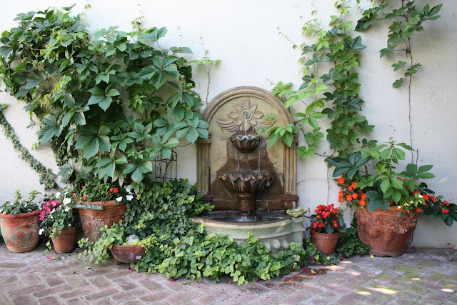 soften a hardscape, grow vines on walls for a pretty garden