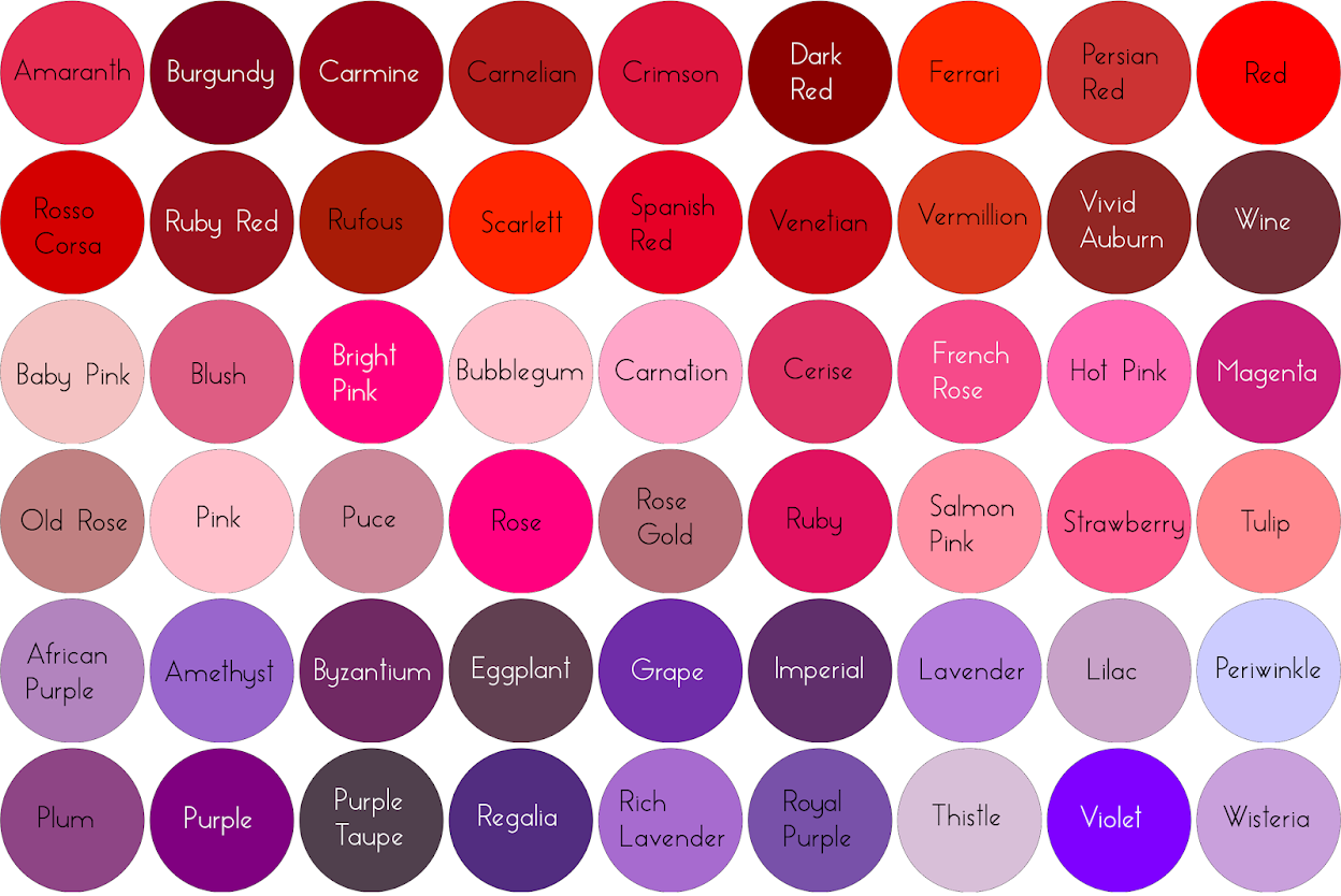 Shades Of Red Chart Www Imgkid Com The Image Kid Has It