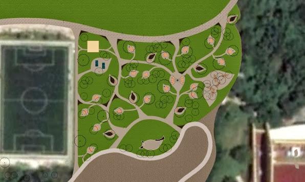 diseño parque ecologico Hotel Iberostar Playa del Carmen - plano
