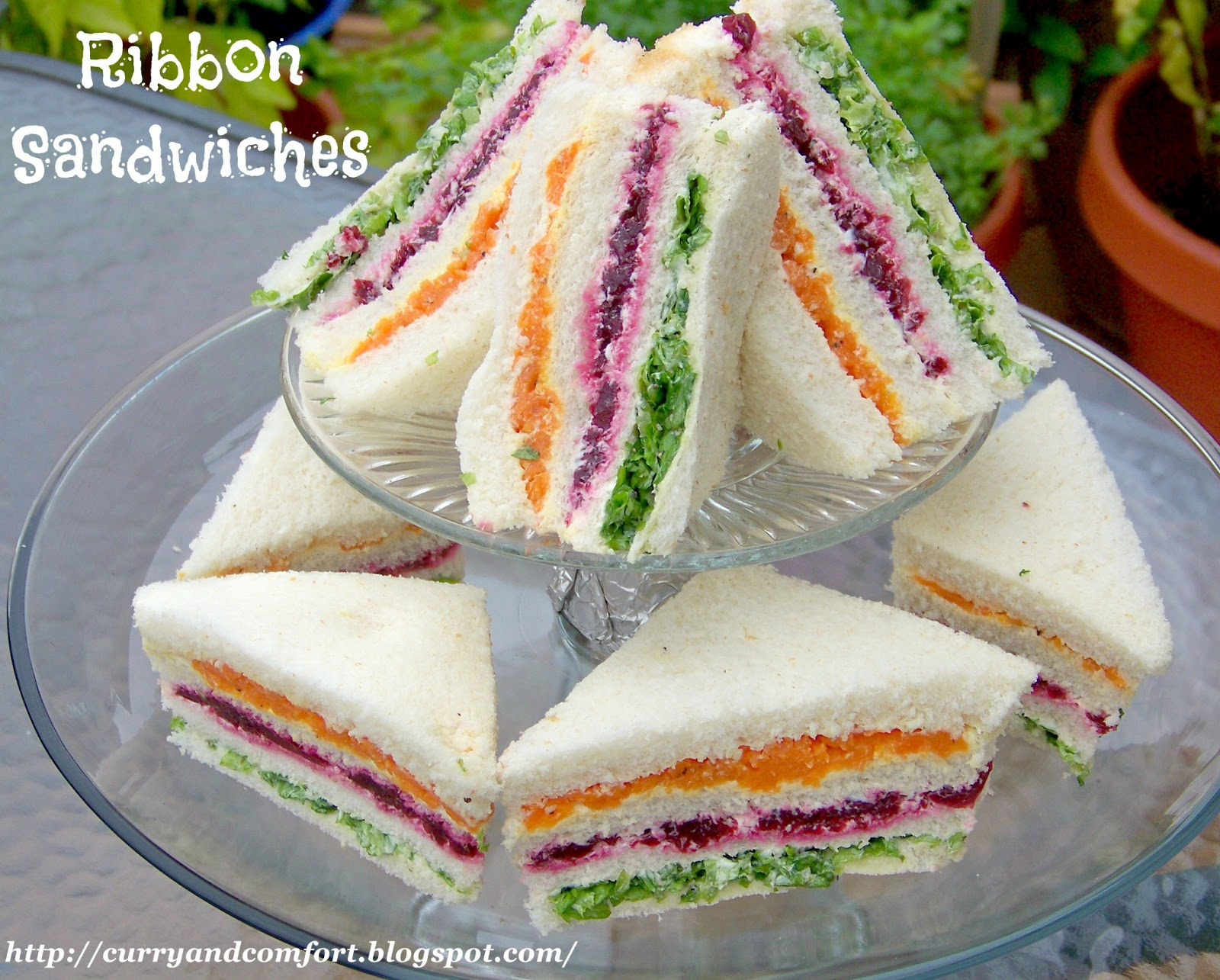 Kitchen simmer sri lankan ribbon sandwiches vegetable tea sandwiches vegetable sandwiches made out of layers of carrots beets and lettuce not only look beautiful they are a delicious appetizer or tea sandwich for any party forumfinder Image collections