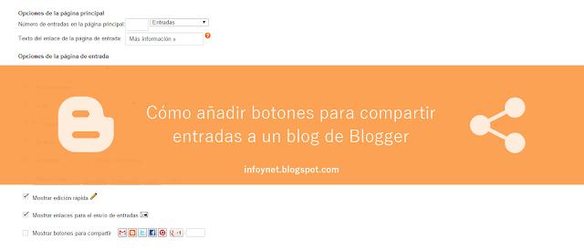 Cómo añadir botones para compartir entradas en redes sociales a un blog de Blogger