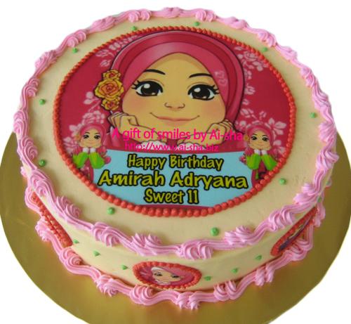 Red Velvet Cake Edible Image Ana MuslimAi-sha Puchong Jaya