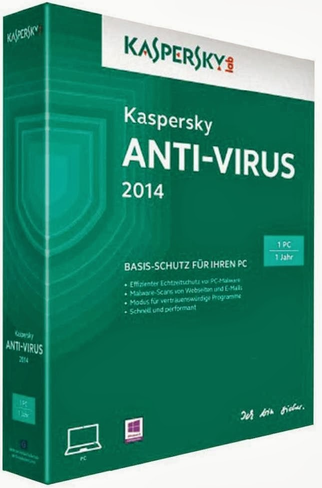 Baixe Kaspersky Anti Virus 2014 Final (x86 & x64 Bits)