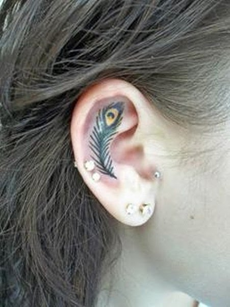 Small and  Cooll Tattoos on Ear