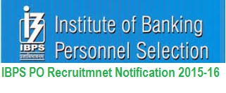 IBPS PO Recruitment 2016