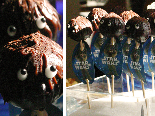Sweet table - Star Wars - chewbacca cake pops