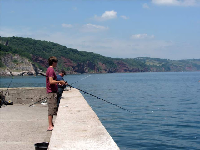 fishing at Babbacombe