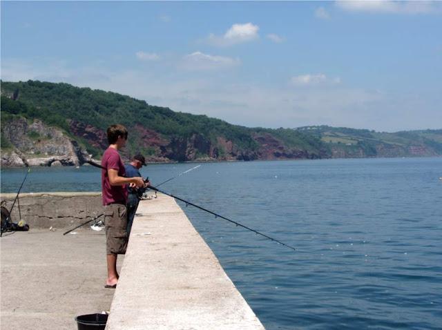 fishing at Babbacombe