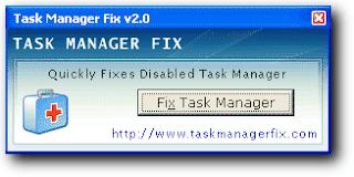 Mengaktifkan Task Manager dengan Software Fix Task Manager