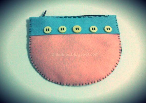 Cara buat purse / dompet dari felt