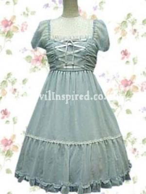 Vintage Front Bandages Lolita Dress