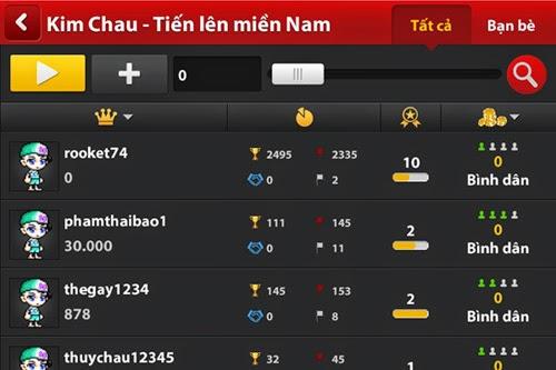 Hướng dẫn màn hình chọn bàn mới game trong iWin 430
