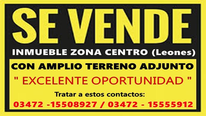ESPACIO PUBLICITARIO: VENTA DE INMUEBLE EN LEONES