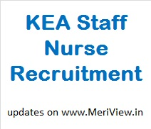 Karnataka KEA Staff Nurse Vacancy
