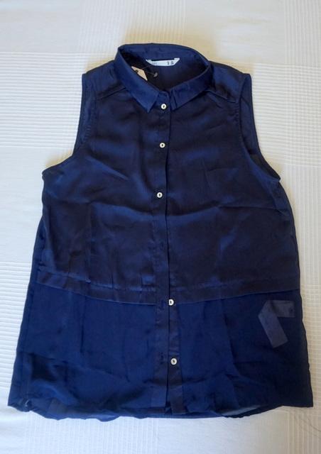 Rebajas camisa sin mangas azul