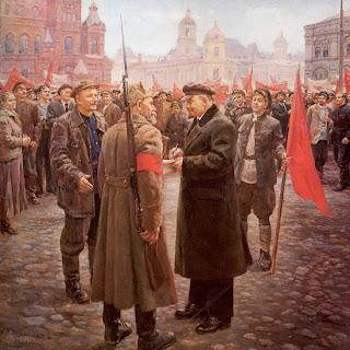 Ocho pinturas sobre Lenin en vísperas del aniversario de su muerte  Lenin+en+1919.+nalbandian