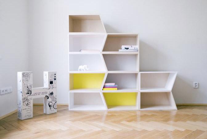 Herchekshmerchek funky book shelving unit for Funky shelving ideas