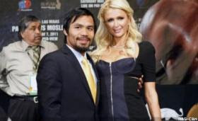 Manny Pacquiao and Paris Hilton photo