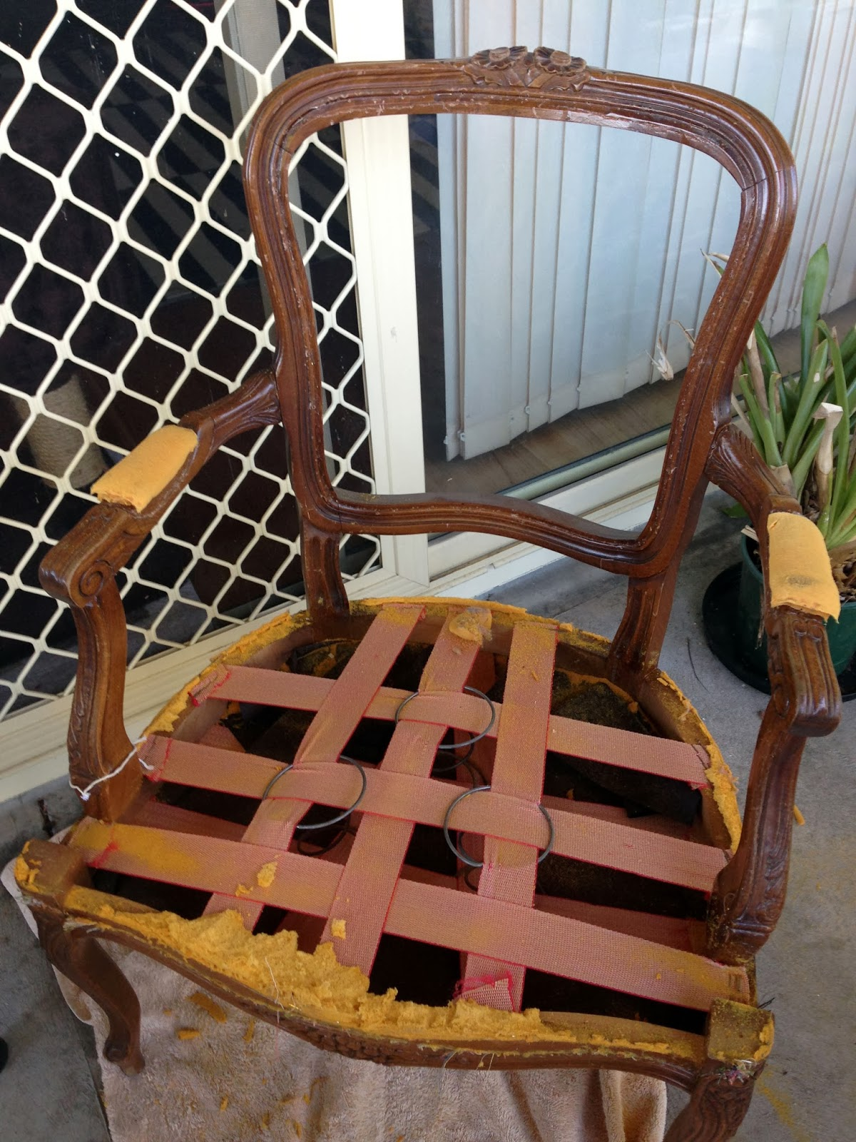 Stella Olive [DIY] A Frenchy Chic reupholstered Louis chair with