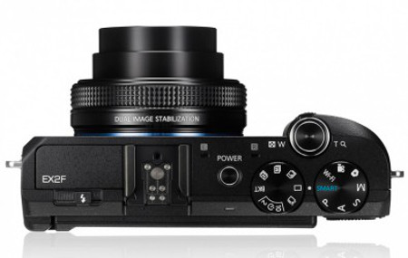 Samsung EX2 F Lens and Buttons