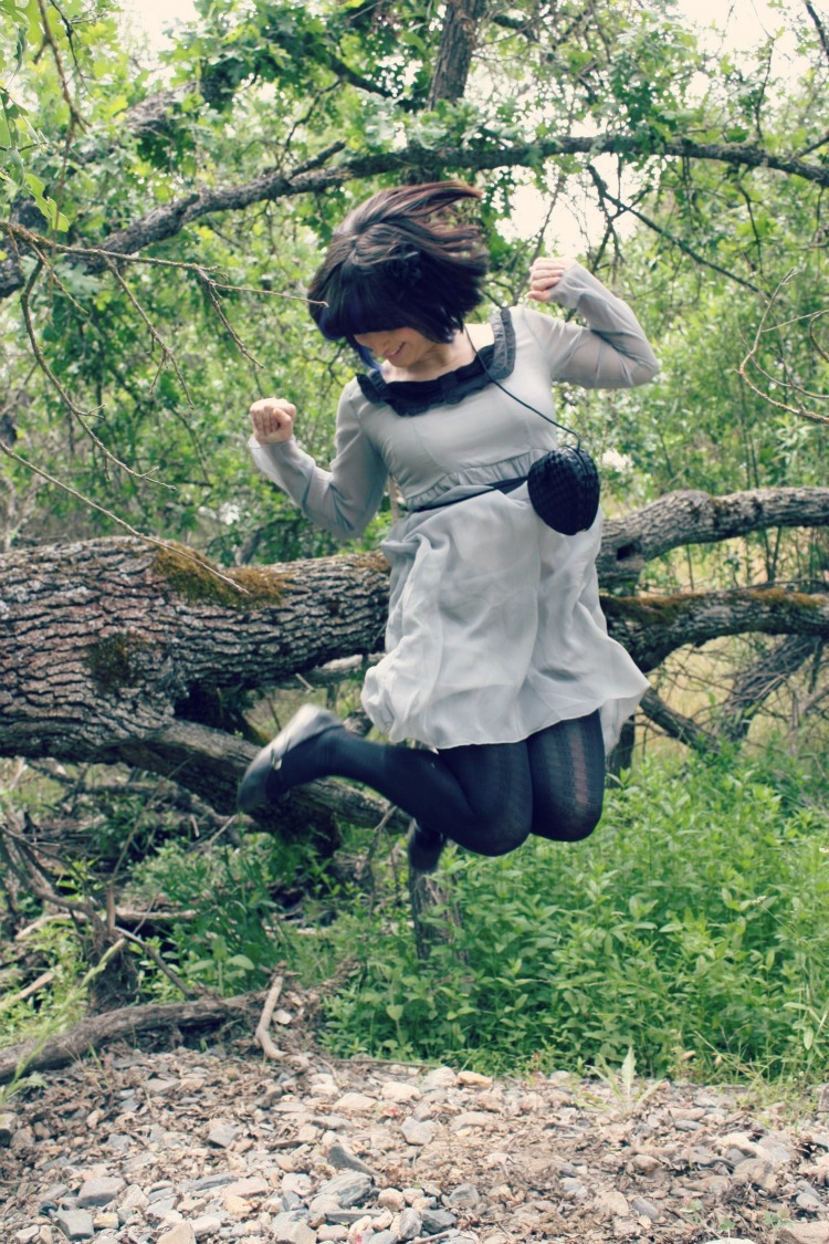 girl jumping