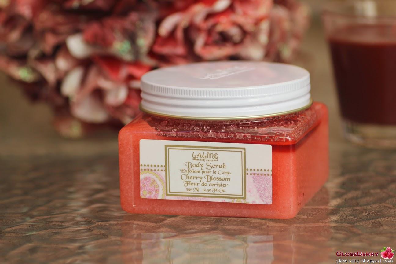 Laline - Body Scrub, Cherry Blossom פילינג ללין