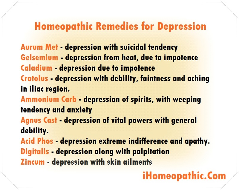 natural homeopathic remedies for depression homeopathic treatment