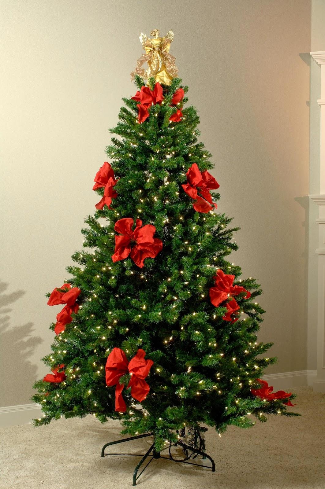 Arboles de navidad decorados con cintas - Albol de navidad ...