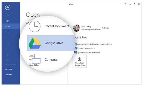 Google Drive plug-in for Microsoft Office released