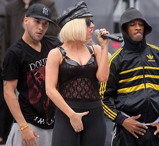 Lady Gaga Crotch Grab