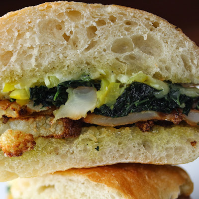 Fried Cauliflower Sandwich
