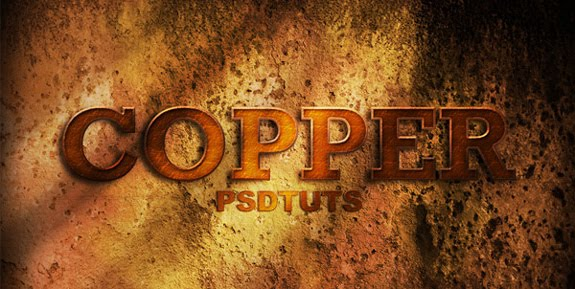 cooper 3d text photoshop 30 Striking 3D Text in Photoshop Tutorials