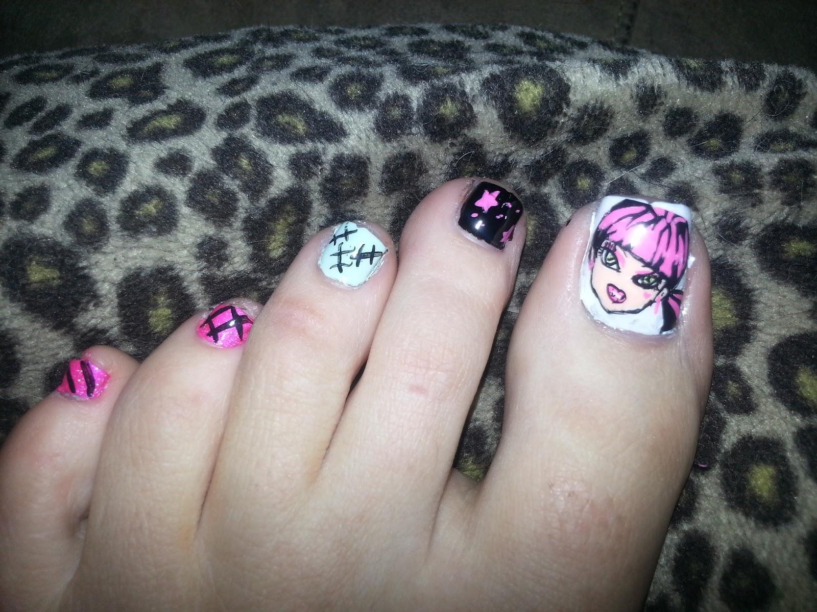 Not Your Mamas Nail Art Monster High