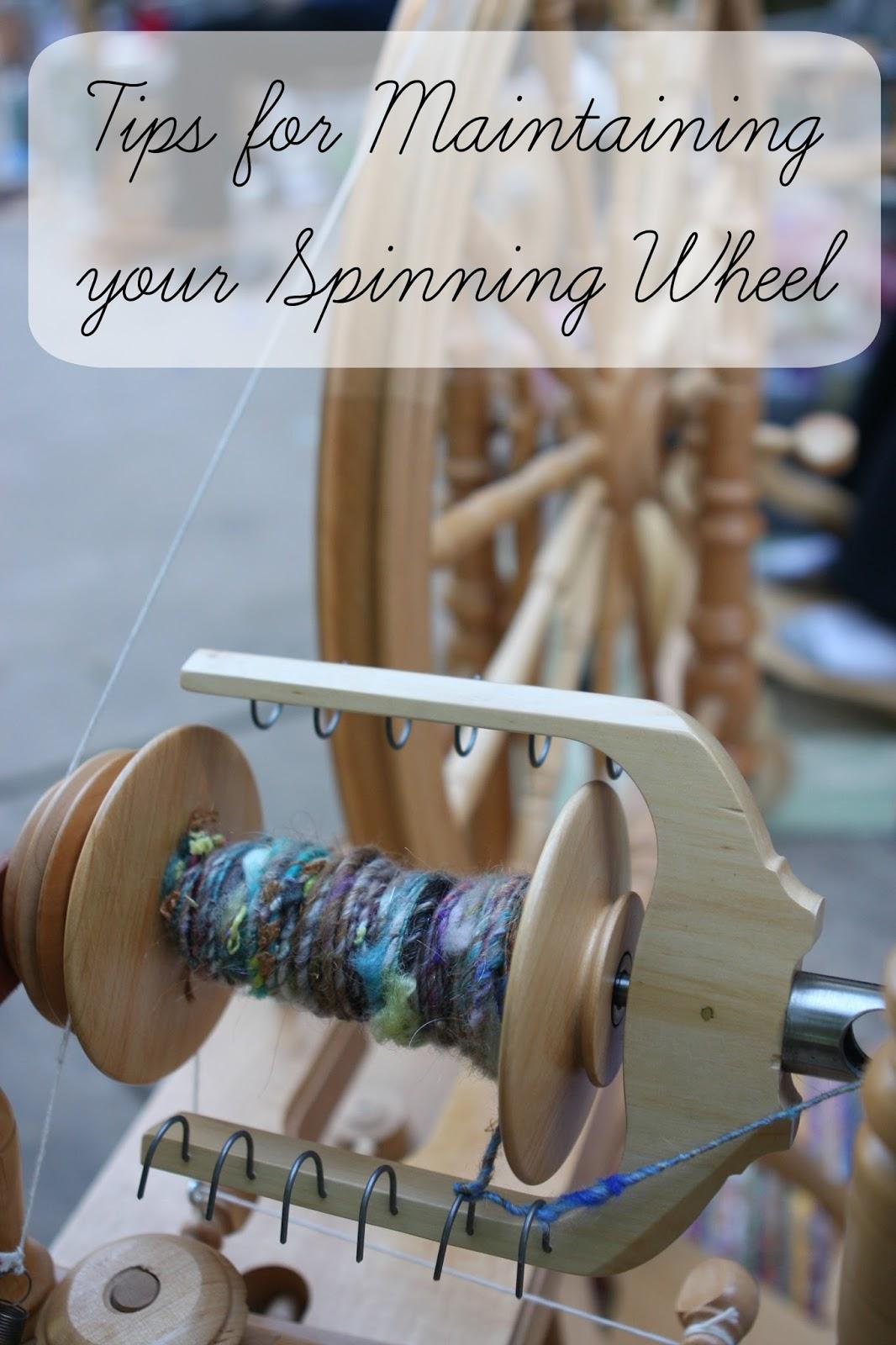 http://www.craftsy.com/blog/2014/06/spinning-wheel-maintenance/
