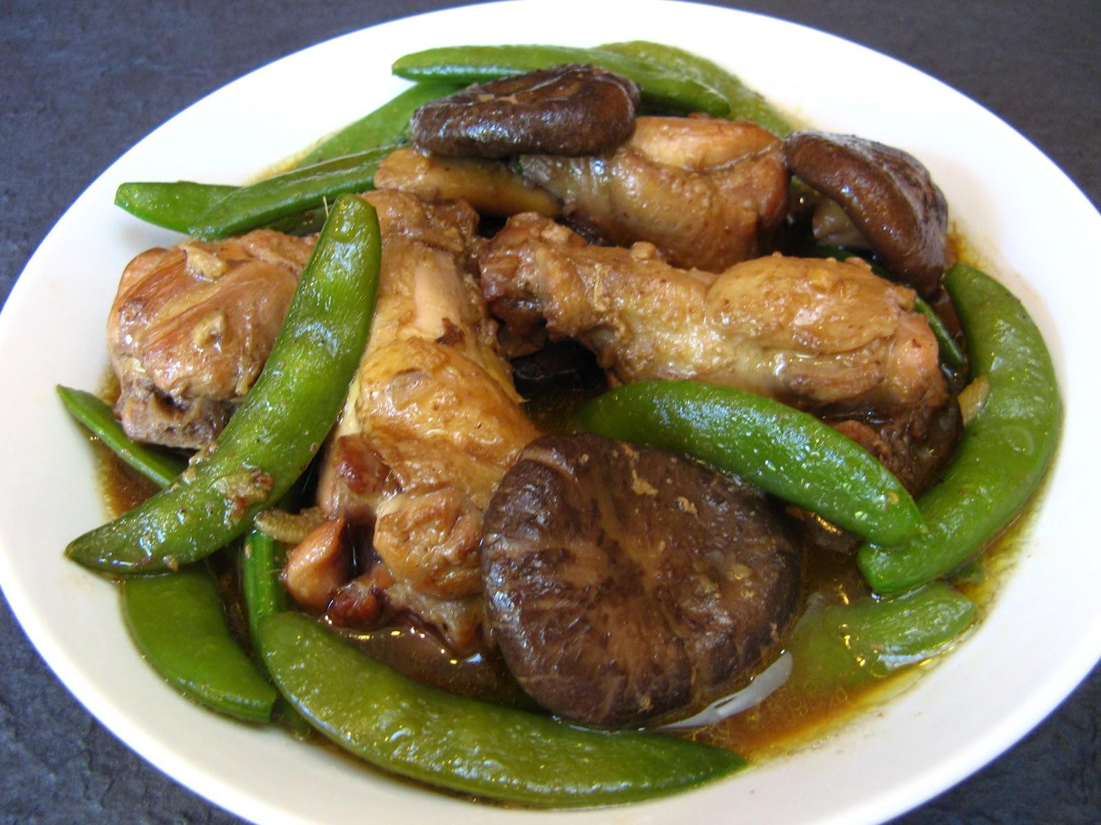 Steamed Chicken And Shiitake Mushrooms Recipe — Dishmaps