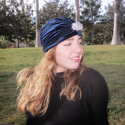turbante color navy